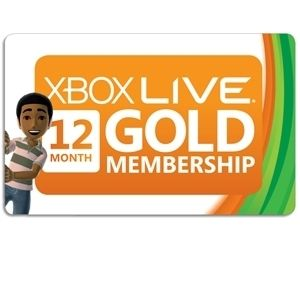 Microsoft Xbox Live Gold Subscription Card