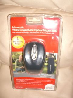 Microsoft Wireless Notebook Optical Mouse 3000 New Factory SEALED
