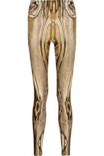 Alexander McQueen Woodgrain printed leggings   60% Off