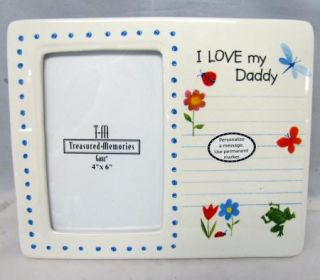 Ceramic Picture Frame Personalize I Love My Daddy New