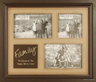 TWO PEOPLE FELL LOVE Primitive Country Family Photo Frame Home decor