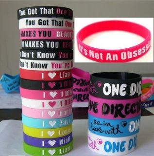 Love 1D One Direction Bracelet Bracelets Silicone Rubber Wristband