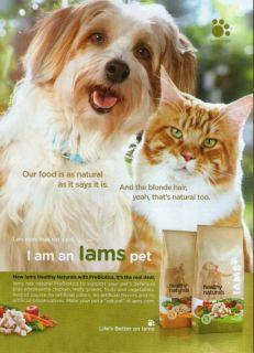 Iams Cat Dog Friends 2010 Magazine Print Ad