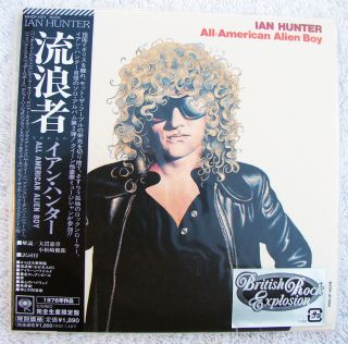 Ian Hunter All American Alien Boy Japan Mini LP CD w OBI 2006 Out of