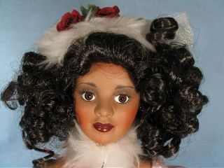 18 Veronica Paradise Gallories Porcelain African American Doll Free