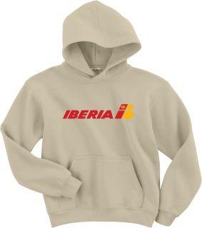 Iberia Airlines Retro Logo Spanish Airline Hoody