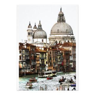 Romantic places in Venice Custom Invitations