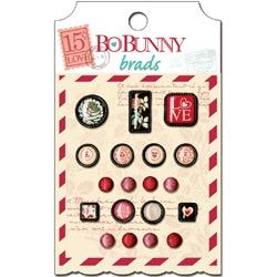 Bo Bunny Love Letters iCANDY Epoxy Brads 13504504
