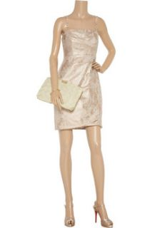 Kay Unger Metallic brocade cotton blend dress   85% Off