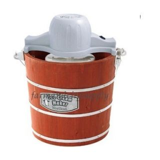 West Bend IC12701 Electric Ice Cream Maker Wooden Bucket 4qt New Auth