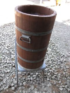 Vintage 5 Gallon Ice Cream Maker Wood Barrel Very RARE White Mountain
