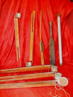 Lot of Vintage Ice Fishing Equipment Estate Fresh