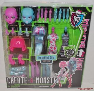 New Monster High Create A Monster Ice and Blob Girls Starter Pack