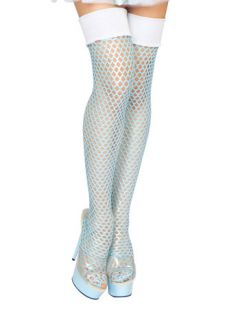fishnet costume thigh high stockings thigh high ice princess fishnet