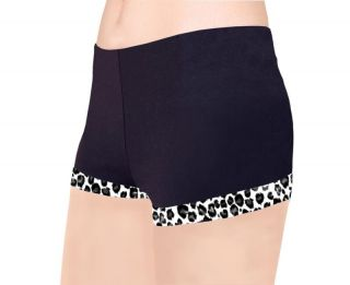 Ice Figure Skating Dress Pants Booty Shorts Leopard WH