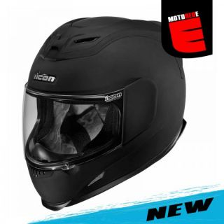Icon Airmada Rubatone Motorcycle Full Face Helmet Black Medium Med M