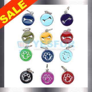 Charm Stainless Personal Pet ID Tag Dog Cat Tags