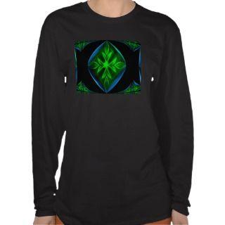 Green Leaf Cross Long Sleeve Top Shirt