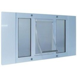 Ideal Window Sash Cat Pet Door 10 x 15 Flap 27 to 32 Wide x Large