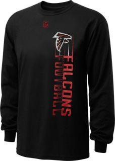 Atlanta Falcons Youth Black NFL Team Motion Long Sleeve T Shirt