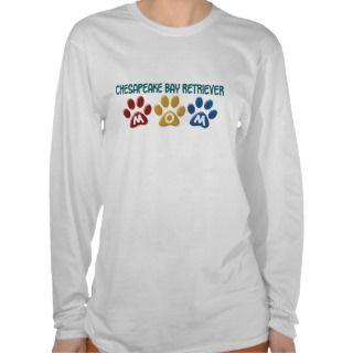 CHESAPEAKE BAY RETRIEVER Mom Paw Print 1 T shirt
