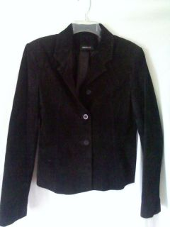Womens Ideology Black Suede Leather Jacket Size 12 M L