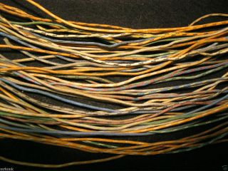 50 Western Electric Cloth Covered Stranded Pushback Hookup Wire 18ga