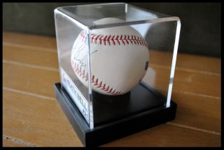 Identify Name Plate for Autographed Baseball Display Case Acrylic Box