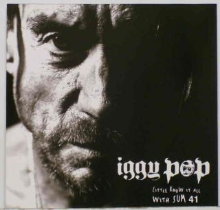 Iggy Pop Little Know It All w Sum 41 Promo CD Stooges