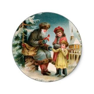 Vintage Christmas Card   German Santa