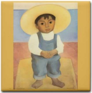 Artist Diego Rivera Painting Reproduction   Retrato del Nino Ignacio