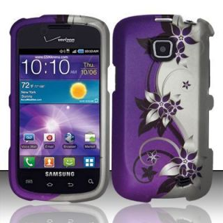 For Samsung Galaxy Proclaim Rubberized Hard Case Phone Cover Purple