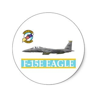 336th Fighter Squadron F 15E Eagle Rocketeers Round Sticker