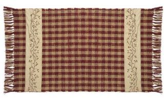 IHF Country Woven Accent Throw Rug for Sale Checkerberry Woven Rug