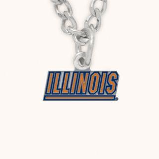 University of Illinois Fighting Illini Necklace Logo