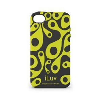iLuv ICC765BLK Hard Shell Case Cover for Apple iPhone 4S Aurora Glow