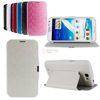 Flip Stand PU Leather Case Cover Shell for Samsung Galaxy Note II