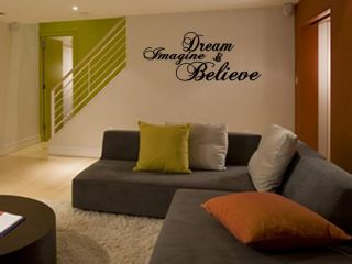 Dream Imagine Believe Vinyl Wall Art Decal Home 36
