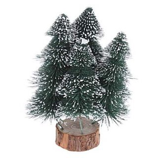 USD $ 16.89   24cm 10 4 in 1 Frosted Pine Christmas Tree Desk Top