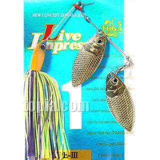 Spinnerbait Bass Fish Lure Live Impress 1 2oz NO3