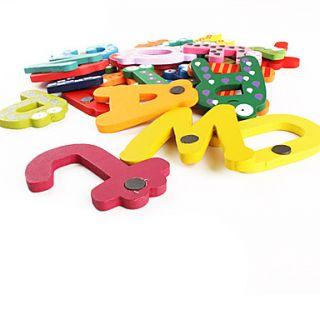 coloridos az 26 letra do alfabeto de brinquedo de madeira imã de