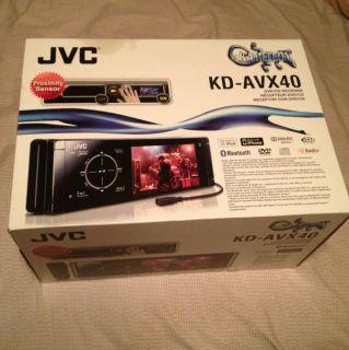 JVC In dash KD AVX40 KAMELEON DVD Car CD Player iPhone iPod Rare