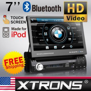 Car in Dash Single DIN DVD Player Radio Stereo Digital Touch Screen