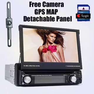 In Dash CAR GPS 1 DIN DVD Player Stereo Radio 7 HD Touchscreen TV