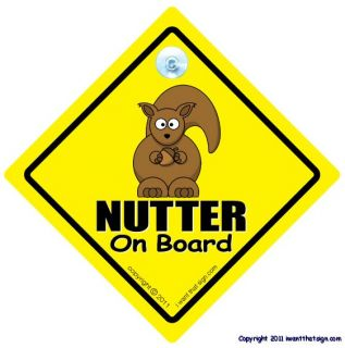 Nutter on Board Car Sign Baby on Board Sign Style