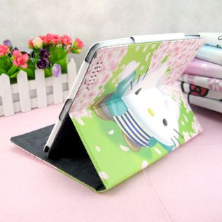 Girl Cute PU Leather Book HelloKitty Magnetic Smart Stand Case Cover