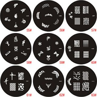 EUR € 1.19   sello estampado de uñas de arte plantilla de imagen de
