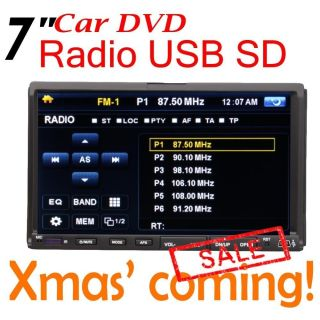 Anti Shock 7 in Dash Touch Screen DVD CD SD USB Car Player RDS Radio