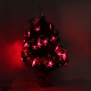 USD $ 10.99   2.8M 20 LED Star Shaped Red Light String Fairy Lamp for