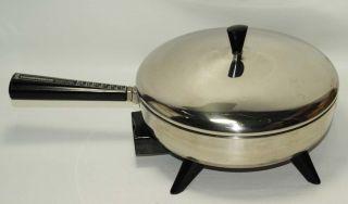Vtg Farberware 10 in Electric Skillet 300B FRY PAN 1000W Low Lid NO